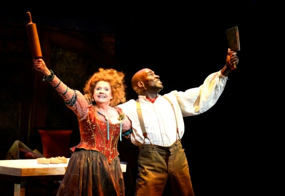 """""""Sweeney Todd"""" by Stephen Sondheim and Hugh Wheeler, at PlayMakers Repertory Company in Chapel Hill, N.C., through April 23. Pictured: Annie Golden and David St. Louis."""