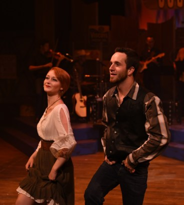 """""""Swingin' Country,"""" an original Centre Stage South Carolina production in Greenville, S.C., through Aug. 8. Pictured: Sara Tolson and Levi Orr. (Photo by Wallace Krebs Photography)"""