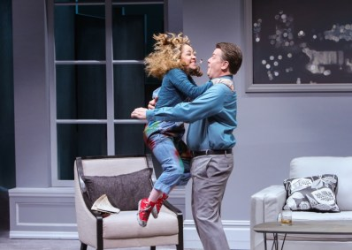 """Sylvia"" by A.R. Gurney, at Geva Theatre Center in Rochester, N.Y., through Feb. 5. Pictured: John Scherer and Jennifer Cody. (Photo by RC2 Photography)"