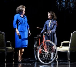 """The Audience"" by Peter Morgan, at Maltz Jupiter Theatre in Jupiter, Fla., through Nov. 6. Pictured: Karen MacDonald and Skye Alyssa Friedman. (Photo by Alicia Donelan)"