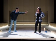 """""""The Hard Problem"""" by Tom Stoppard, at Court Theatre in Chicago through April 9. Pictured: Jurgen Hooper and Chaon Cross. (Photo by Michael Brosilow)"""