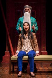 """King of the Yees"" by Lauren Yee, at Goodman Theatre in Chicago through April 30. Pictured: Rammel Chan and Stephenie Soohyun Park. (Photo by Liz Lauren)"