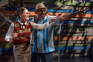 """The Language Archive"" by Julia Cho, a Portland Playhouse production at Coho Productions in Portland, Ore., through June 11. Pictured: Foss Curtis and Victor Mack. (Photo by Brud Giles)"