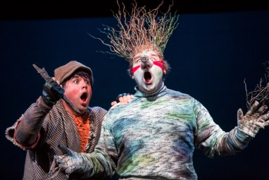 """""""The Last Firefly"""" by Naomi Iizuka, at Children's Theatre Company in Minneapolis in 2016. Pictured: Ricardo Vazquez and Luverne Seifert. (Photo by Dan Norman)"""