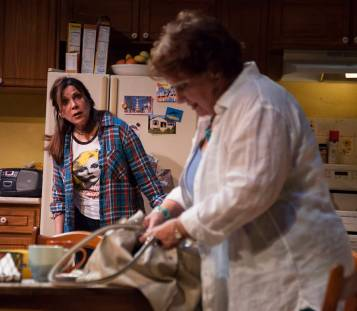 """""""The Roommate"""" by Jen Silverman, at Florida Studio Theatre in Sarasota, Fla., through Aug. 7. Pictured: Rita Rehn and Jo Twiss. (Photo by Matthew Holler)"""