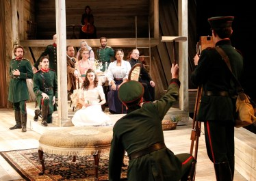 """""""Three Sisters"""" adapted by Libby Appel from Chekhov, at PlayMakers Repertory Company, in Chapel Hill, N.C., through Feb. 7. (Photo by Jon Gardiner)"""