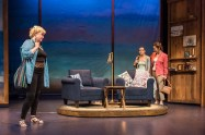 """""""Unexpected Joy,"""" by Bill Russell and Janet Hood, at Wellfleet Harbor Actors Theater in Wellfleet, Mass., through Aug. 20. Pictured: Sally Mayes, Charity Farrell, and Michelle Duffy. (Photo by Michael & Suz Karchmer)"""
