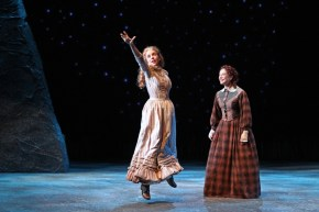 """Abundance"" by Beth Henley, at South Coast Repertory in Costa Mesa, Calif., through Nov. 15. Pictured: Lily Holleman and Paige Lindsey White​. (Photo by ​Debora Robinson/SCR)"