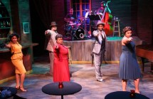 """""""Ain't Misbehavin' ,"""" book by Murray Horwitz and Richard Maltby Jr., music by various composers and lyricists as arranged and orchestrated by Luther Henderson, at Stageworks Theatre in Tampa, Fla., through May 17. Pictured: Naomy Ambroise, Frank Edmondson III, Latoya McCormick, Tron Montgomery and Tia Jemison."""