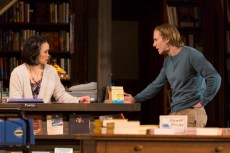 """""""All the terrible things i do"""" by A. Rey Pamatmat, at the Huntington Theatre Company in Boston through June 21. Pictured: Tina Chilip and Zachary Booth. (Photo by T. Charles Erickson)"""