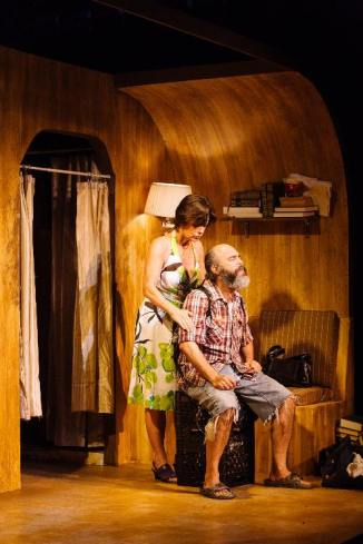 Angela Bond and Paul Potenza in Jobsite Theater's production of 'Annapurna,' by Sharr White. (Photo by Crawford Long)