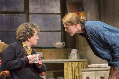 """Marie Mullen and Aisling O'Sullivan in Druid of Galway's 2016 production of """"The Beauty Queen of Leenane."""" (Photo by Stephen Cummiskey)"""