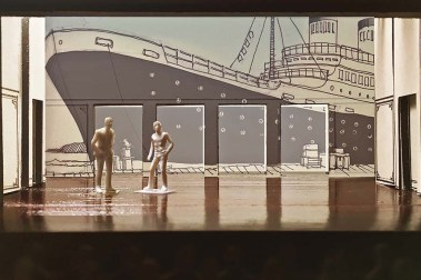 "A rendering of Andrew Boyce's set for ""The Four Immigrants."" (Courtesy of Andrew Boyce)"