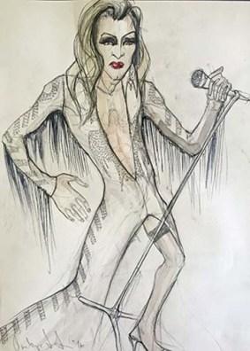 Olivera Gajic's costume sketch for Casey's Elvis costume in 'The Legend of Georgia McBride' at the Arden.