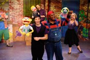 """""""Avenue Q"""" by Robert Lopez, Jeff Whitty and Jeff Marx, at Horizon Theatre Company in Atlanta through July 12. Pictured: Nick Arapoglou, Spencer Stephens, JC Long and Mary Nye Bennett. (Photo by Greg Mooney)"""