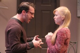"""""""Bad Jews"""" by Joshua Harmon, a Theater Wit production at North Shore Center for the Performing Arts in Skokie, Ill., through July 19. Pictured: Ian Paul Custer and Erica Bittner. (Photo by Charles Osgood)"""