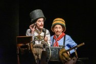 """""""Chitty Chitty Bang Bang"""" by Richard M. Sherman, Robert B. Sherman, and Jeremy Sams, at Seattle Children's Theatre through Dec. 27. Pictured: Basil Harris and Chris Ensweiler (Photo by Alan Alabastro)"""