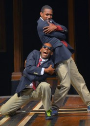"""Choir Boy"" by Tarell Alvin McCraney, at Marin Theatre Company in Mill Valley, Calif., through June 28. Pictured: Rotimi Agbabiaka and Dimitri Woods. (Photo by Kevin Berne)"