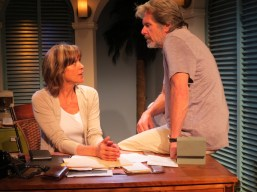 """""""Closure"""" by Richard Dresser, at New Jersey Repertory Company, in Long Branch, N.J., through July 19. Pictured: Wendie Malick and Gary Cole. (Photo by SuzAnne Barabas)"""