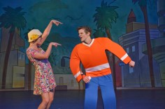 """The Musical Adventures of Flat Stanley"" by Timothy Allen McDonald, Jonathan K. Waller, David Weinstein, and Stephen Gabriel, at Dallas Children's Theatre, through July 12. Pictured: Caroline Dubberly and Johnny Lee. (Photo by Karen Almond)"