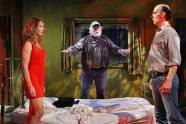 "Jennifer Blagen, Allen Hamilton, and Terry Hempleman in ""Fool for Love"" by Sam Shepard at the Jungle Theater in 2013. (Photo by Michal Daniel)"