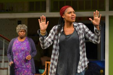 """""""Head of Passes"""" by Tarell Alvin McCraney, at Berkeley Repertory Theatre through May 24. Pictured: Cheryl Lynn Bruce and Nikkole Salter. (Photo by Kevin Berne)"""