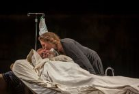"""""""King Lear"""" by William Shakespeare, at Idaho Shakespeare Festival in Boise, Idaho, through Aug. 27. Pictured: Aled Davies and Cassandra Bissell. (Photo by Darin Oswald)"""