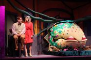 """Little Shop of Horrors"" by Howard Ashman and Alan Menken, at Charleston Stage Company in Charleston, S.C., through Nov. 1. Pictured: Kent Reynolds, Katie Arthur, Josh Harris and Nathan Burke."