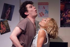 """""""Luka's Room"""" by Rob Mersola, at Rogue Machine Theatre in Los Angeles through Sept. 20. Pictured: Nick Marini and Sarah Scott. (Photo by John Perrin Flynn)"""