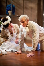 """""""Marie Antoinette"""" by David Adjmi, at the Sandra Feinstein Gamm Theatre in Pawtucket, R.I. through May 31. Pictured: Madeleine Lambert and Alec Thibodeau. (Photo by Peter Goldberg)"""