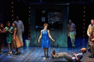 """""""Memphis"""" by Joe DiPietro and David Bryan, at Aurora Theatre in Lawrenceville, Ga., through Aug. 30. Pictured: Naima Carter Russell, Travis Smith, and the cast. (Photo by Chris Bartelski)"""