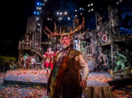 """The Merry Wives of Windsor"" by William Shakespeare, at the American Players Theatre in Spring Green, Wisc., through Oct. 4. Pictured: Brian Mani. (Photo by Liz Lauren)"