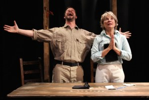 """Geoffrey Nolan and Lorri Holt in """"Mount Misery"""" by Andrew Saito at Cutting Ball Theater in San Francisco through June 21, 2015. (Photo by Chase Ramsey)"""