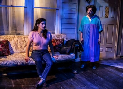 """""""Nice Girl"""" by Melissa Ross, at the Labyrinth Theater in New York City through June 7. Pictured: Diane Davis and Kathryn Kates. (Photo by Monique Carboni)"""