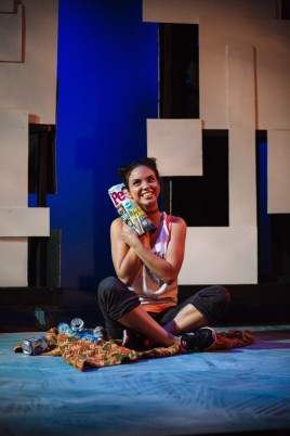 """""""Occupation"""" by Ken Ferrigni, a Jobsite Theater production at the Straz Center, in Tampa, Fla., through Aug. 2. Pictured: Marlene Peralta. (Photo by Crawford Long)"""
