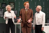 """""""One Man, Two Guvnors,"""" adapted by Richard Bean from Carlo Goldoni, at the Berkeley Repertory Theatre through June 21. Pictured: Ron Campbell, Dan Donohue and Danny Scheie. (Photo by mellopix.com)"""