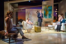 """""""Other Desert Cities"""" by Jon Robin Baitz, at Theatre Aspen in Aspen, Colo., through Aug. 22. Pictured: Lori Wilner, Curran Connor, Jack Wetherall, Peggy J. Scott, and Megan Byrnes. (Photo by Jeremy Swanson)"""