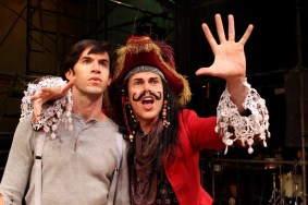 """Peter and the Starcatcher"" by Rick Elice, based on the novel by Dave Barry and Ridley Pearson, with music by Wayne Barker at South Coast Repertory in Costa Mesa, Calif., through June 7. Pictured: Wyatt Fenner and Matt McGrath. (Photo by Debora Robinson/SCR)"