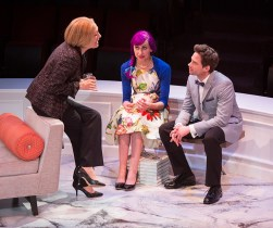 """""""Rich Girl"""" by Victoria Stewart, at the Old Globe in San Diego, Calif., through June 21. Pictured: Meg Gibson, Lauren Blumenfeld and JD Taylor. (Photo by Jim Cox)"""