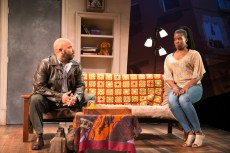 """""""Sunset Baby"""" by Dominique Morisseau, at the Rep Stage in Columbia, Md., through May 17. Pictured: Jefferson A. Russell and Valeka J. Holt. (Photo by Katie Ellen Simmons-Barth)"""