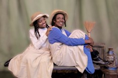"""""""The Color Purple"""" by Brenda Russell, Allee Willis, Stephen Bray, and Marsha Norman, at Jubilee Theatre in Fort Worth, Texas, through Aug. 23. Pictured: Ebony Marshall Oliver and Kristen Bond. (Photo by Cecil Fuqua)"""
