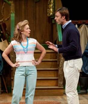 """The Foreigner"" by Larry Shue, an Alley Theatre production at the University of Houston through Aug. 9. Pictured: Elizabeth Bunch Hutchinson and Jay Sullivan."
