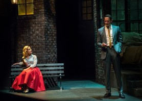 """Three Days of Rain"" by Richard Greenberg, at the Portland Center Stage in Portland, Ore., through June 21. Pictured: Lisa Datz and Sasha Roiz. (Photo by Patrick Weishampel/www.blankeye.tv)"
