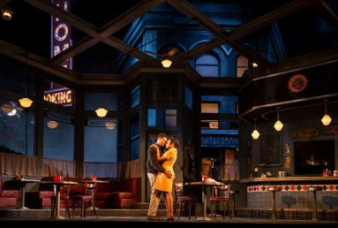 """Chester Gregory and Nambi E. Kelley in August Wilson's """"Two Trains Running"""" at Goodman Theatre. (Photo by Liz Lauren)"""