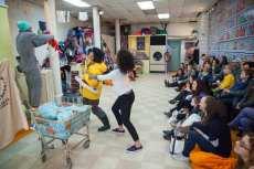"Che Avende, Mia Katigbak and Danaya Esperanza in ""Washeteria"" at Soho Rep. (Photo by Christopher Ash)"