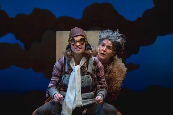"""""""When She Had Wings"""" by Suzan Zeder, at Imagination Stage in Bethesda, Md., through Nov. 1. Pictured: Maggie Wilder and Pamela Christian. (Photo by Noe Todorovich)"""