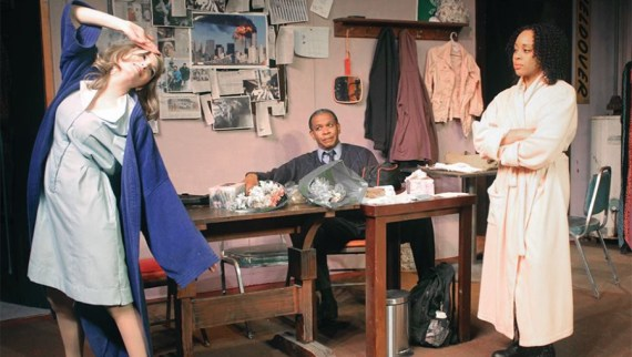 """White Ash Falling 9/11"" by Thom Molyneaux, at the Detroit Repertory Theatre, through June 28. Pictured: Katherine Mahard, Harold Uriah Hogan and Janee´ Ann Smith."