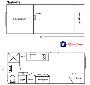 20' American Tiny House Nashville v2 P1