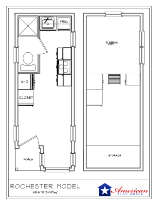 Rochester Floorplan American Tiny House