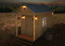 Dallas American Tiny House mockup night view